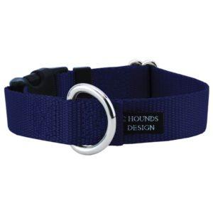 navy blue nylon collar with buckle