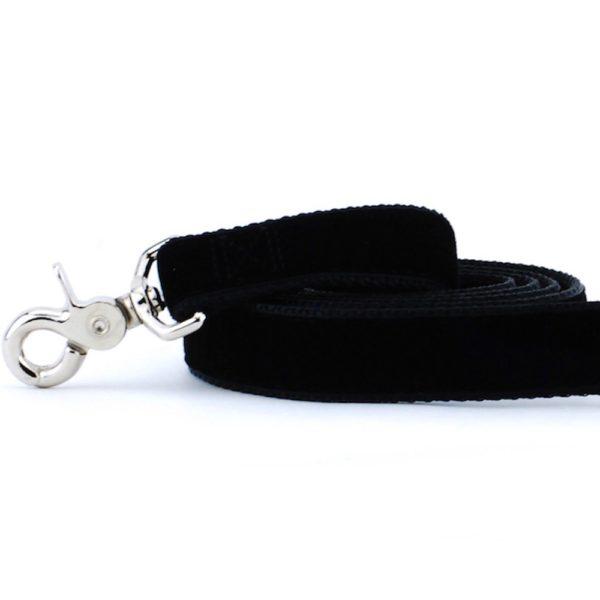 Black Velvet Dog Leash