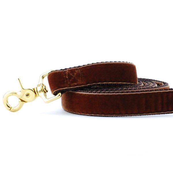 Brown Velvet Dog Leash