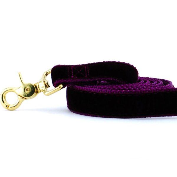 Wine (Burgundy) Velvet Dog Leash
