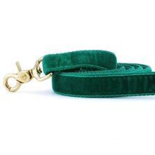 Emerald (Kelly) Velvet Dog Leash
