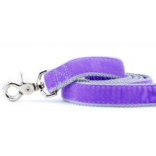 Lavender Velvet Dog Leash