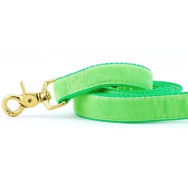 Lime (Neon) Green Velvet Dog Leash
