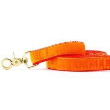 Orange Velvet Dog Leash