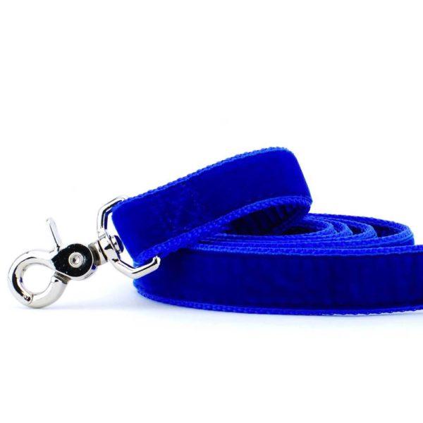Royal Blue Velvet Dog Leash