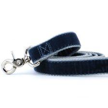 Smoke Gray Velvet Dog Leash