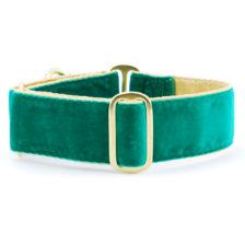 Satin Lined Holiday Velvet Green/Gold