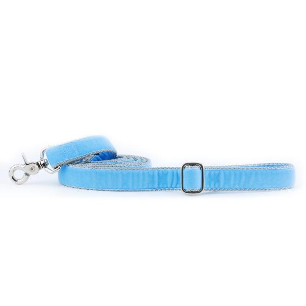 Light Blue Velvet Dog Leash