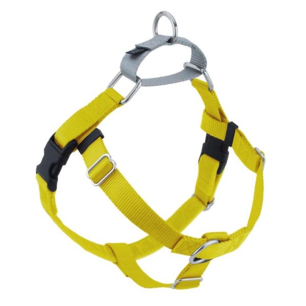 """Yellow 1"""" Only Freedom No-Pull Dog Harness"""