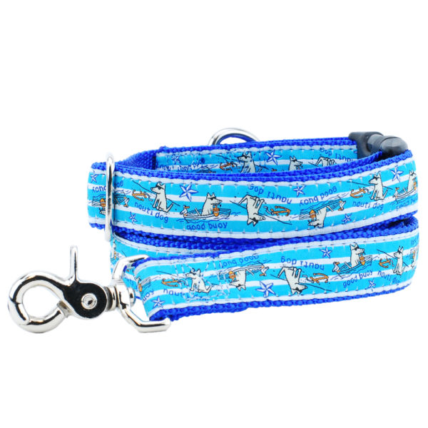 good bouy blue dog leash