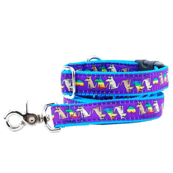 choose love leash and collar set