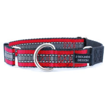 red and black reflective collar for dogs