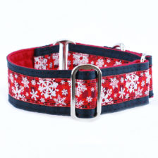 Buffalo Plaid Snowflake Elite dog collar