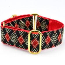 Black Argyle Dog Collar