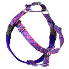 Pink Plaid Freedom No-Pull Dog Harness