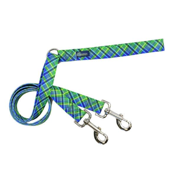 Green Plaid Dog Leash