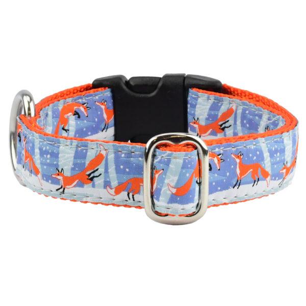 Frolicking Fox Dog Collar