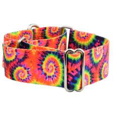 "1.5"" Wide Tie Dye Martingale Dog Collar"